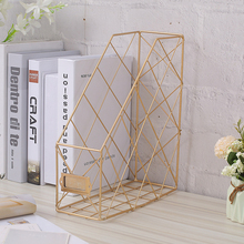 Newly Nordic Book File Stand Iron Desktop Multi-layer Magazine Rack Cosmetic Storage Rack 999