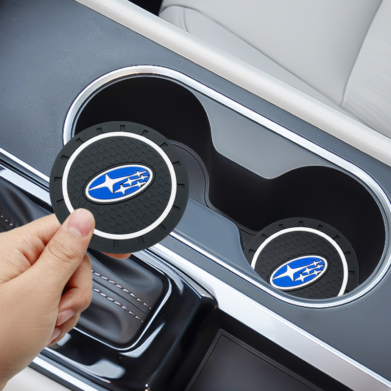 2PCS Car Water Cup Bottle Holder Anti-slip Pad Mat Silica Gel For Subaru Forester Impreza Outback Legacy Xv Sti Car Accessories