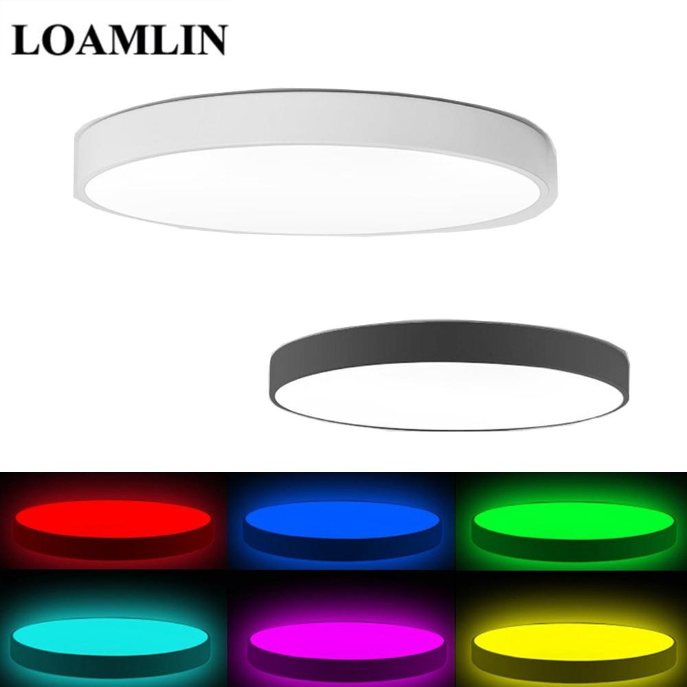 LED Ceiling Light Modern Lamp Living Room Lighting Fixture Bedroom Kitchen Surface Mount Flush Panel APP Control