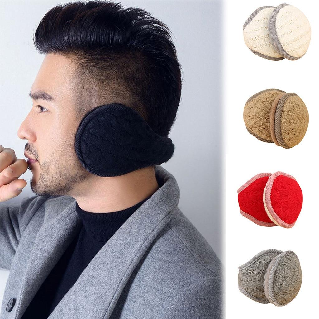 SAGACE 2019 Hot Fashion Man Women Solid Winter Earmuffs Soft Thicken Plush Ear Cover Protector Ear Muff Wrap Band Warmer Earflap
