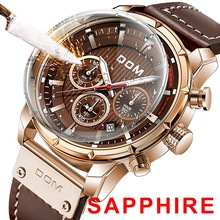 Sport-Watches Chronograph Man Clock DOM Sapphire Luxury Military Top-Brand for Men M-1320GL-5M