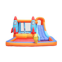 Giant Garden Trampoline Bouncer House Inflatable Kids Rocket Party Bouncy Castle Home Outdoor Jump Combo Park Water Slide Pool