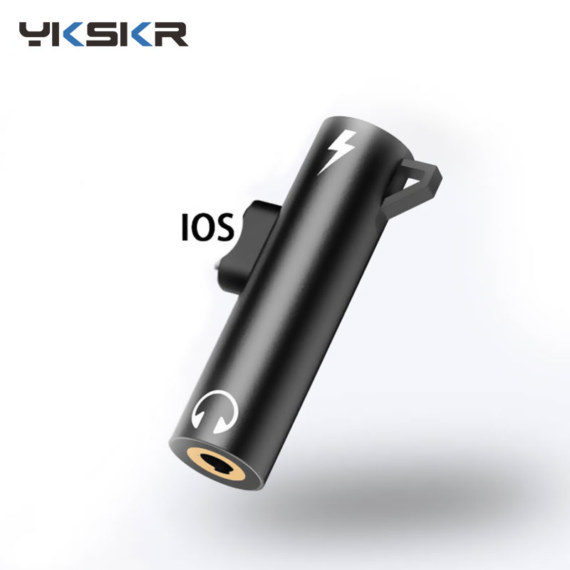 For Lighting To 3.5mm Jack Headphone Connector OTG 2 In 1 Aux Audio Adapter For IPhone Xs X 8 7 Plus Adaptador Earphone Splitter