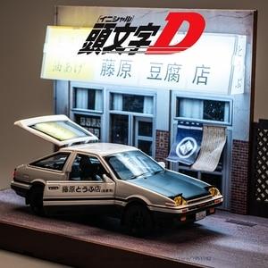 Image 3 - 1:28 oyuncak araba başlangıç D AE86 Metal oyuncak alaşım araba Diecasts ve oyuncak araçlar araba modeli minyatür ölçekli Model oyuncak arabalar çocuklar için