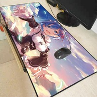 XGZ Re Null Anime Mädchen Große Gaming Mouse Pad Lock Rand Maus Matte Tastatur Pad Schreibtisch Matte Tisch Matte Gamer mousepad für CSGO DOTA