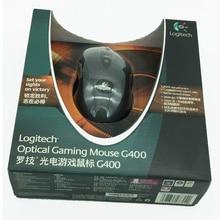 100% original logitech g400 óptico gaming mouse com fio jogador profissional marca gmaing mouse com pacote de varejo