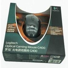100% orijinal Logitech G400 optik oyun faresi kablolu profesyonel oyuncu marka gmaing fare perakende paketi ile