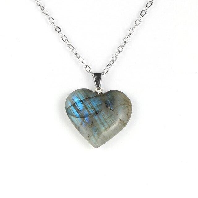 Collier Labradorite Coeur