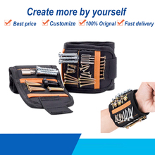 Universal 1680D Oxford Cloth Magnetic Wristband Holding Screws Drills Repair Part Organizers Tool Bag With 2 Pocket
