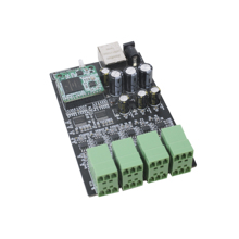 Professional Dante Audio IP Network PCB 4 In 4 Out Dante Transmitter Converter Printed Circuit Board, Support 12VDC Power