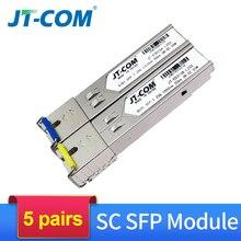 O único transceptor ótico da fibra do único modo do gigabit do módulo de sfp do par 1 gb sc 5 km/20 km compatível com o interruptor dos ethernet de cisco