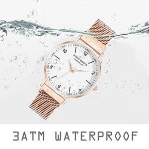 Image 5 - Women Watch Magnetic Rose Gold Starry Sky Watch Luminous 2019 Ladies Stainless Steel Wrist Watch For Waterproof relogio feminino