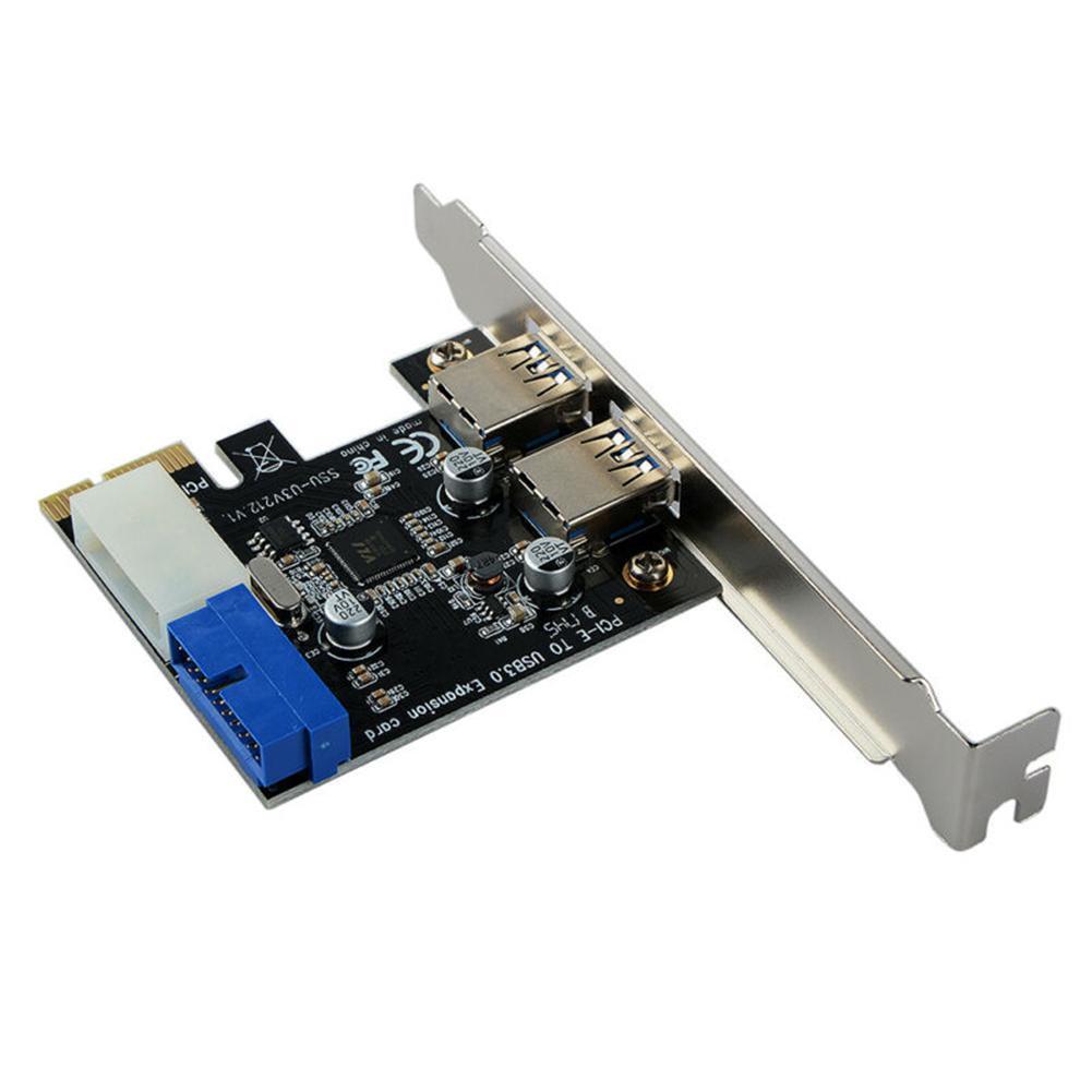 USB 3 Expansion Card PCI-E 2 Hub Port Internal 19pin Card 4 Pins Power