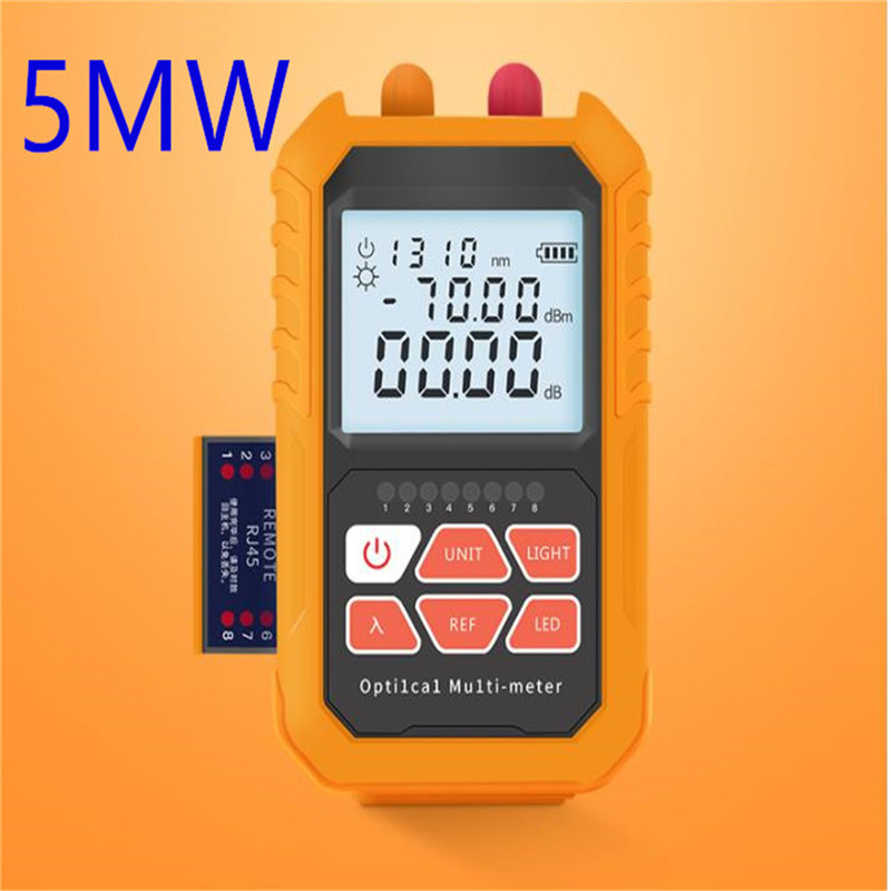 3in1  Optical Power Meter Visual Fault Locator Network Cable Test  Optical Fiber Tester,1mw With 5km Visual Fault Locator