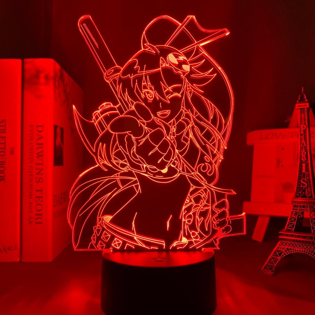 H335c431747de41968caadaee4e631fe5T Luminária Anime gurren lagann yoko luz conduzida da noite para o quarto decoração presente de aniversário noite lâmpada yoko littner luz gurren lagann gadget