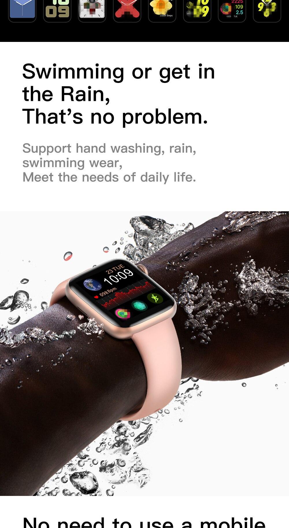 Diliberto relógio inteligente w75 1:1 40 44mm