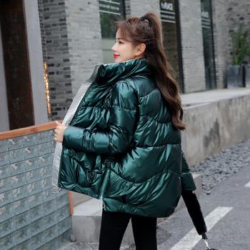 2020 nowa kurtka zimowa wysokiej jakości stojak-callor płaszcz kobiety modne kurtki zimowe ciepłe odzież damska Casual parki tanie i dobre opinie FANMUER CN (pochodzenie) Zima Na co dzień W każdym wieku 35-45 lat zipper 2082 Pełna Poliester Spray-bonded Wata Grube