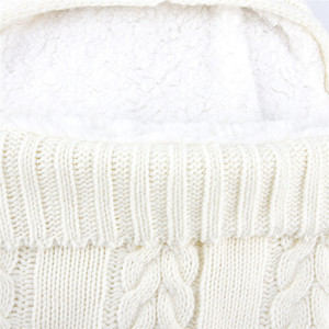 Image 5 - เด็กทารกเด็กแรกเกิดกระเป๋าฤดูหนาวขนแกะ Swaddle ผ้าห่มขนาดใหญ่รถเข็นเด็ก Wrap สำหรับชายหญิงถัก Sleep Sack