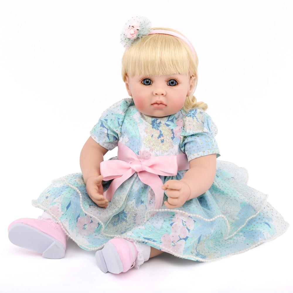 NPKDOLL 20 pouces 50cm corps entier en Silicone souple Reborn bébés poupée nouveau-né réaliste Reborn poupées bébé réel