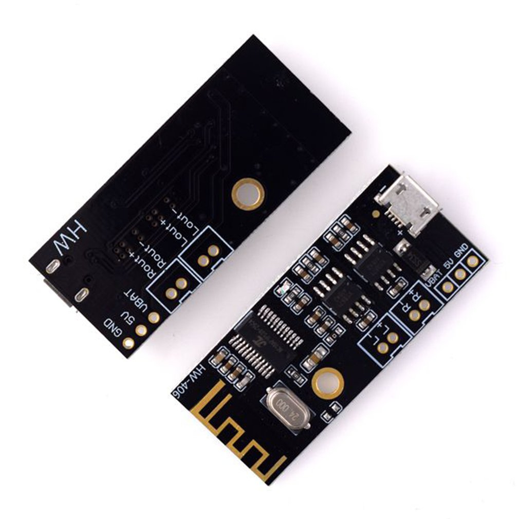 Hw-406 Digital Audio Amplifier Board Wireless Audio Module 4.2 Stereo Lossless High Fidelity Hifi Diy Modification Black