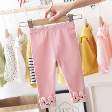 Pants Kids Leggings Long-Trousers Winter for Girls Wear Children's Cartoon Skinny Thickening