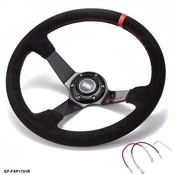 سيارة سباق الانجراف 350 مللي متر الجلد المدبوغ EPMAN عجلة القيادة 3.5