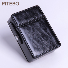 PITEBO Business people 20 sticks of leather cigarette packing portable fashion leather
