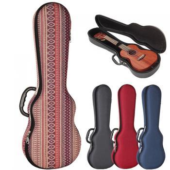 Ukulele Case 21 Inch Soprano Ukulele Case EVA Hard Box Lightweight Pressure-proof Colourful Protable Backpack