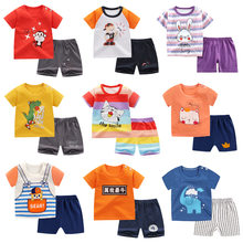 Baby Boy Summer Clothes Toddler Girls Tops T-shirt Short Pants Casual Outfits Children Clothes Kids Clothing Cotton Home Clothes
