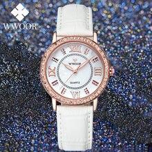 Wwoor Новые Роскошные наручные часы со стразами женские повседневные