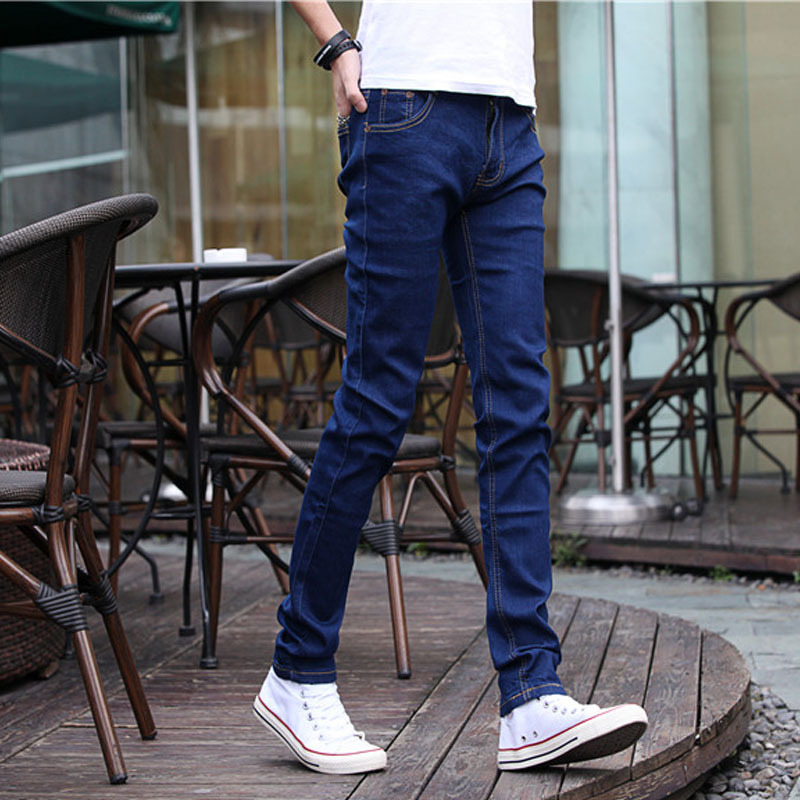 Summer Popular Brand MEN'S Jeans Korean-style Slim Fit Pants Casual Pants Handsome Trend Spring And Autumn Men's Trousers