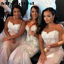 Mbcullyd Mermaid Bridesmaid Dresses 2020 Long Sweep Train Af