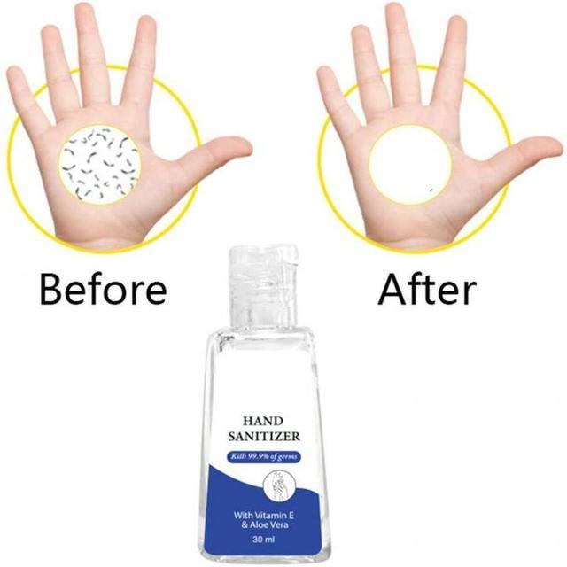 Hand Sanitizer Gel Hand Soap Gel Anti-Bacteria Portable Waterless 99% Disinfection Gel antibacterial hand gel Soothing Gel 30ml 1