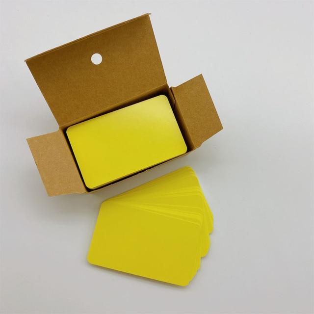 100pcs Blank Kraft Paper Gift Retro Tags DIY Wedding Party Label Memo Card Z