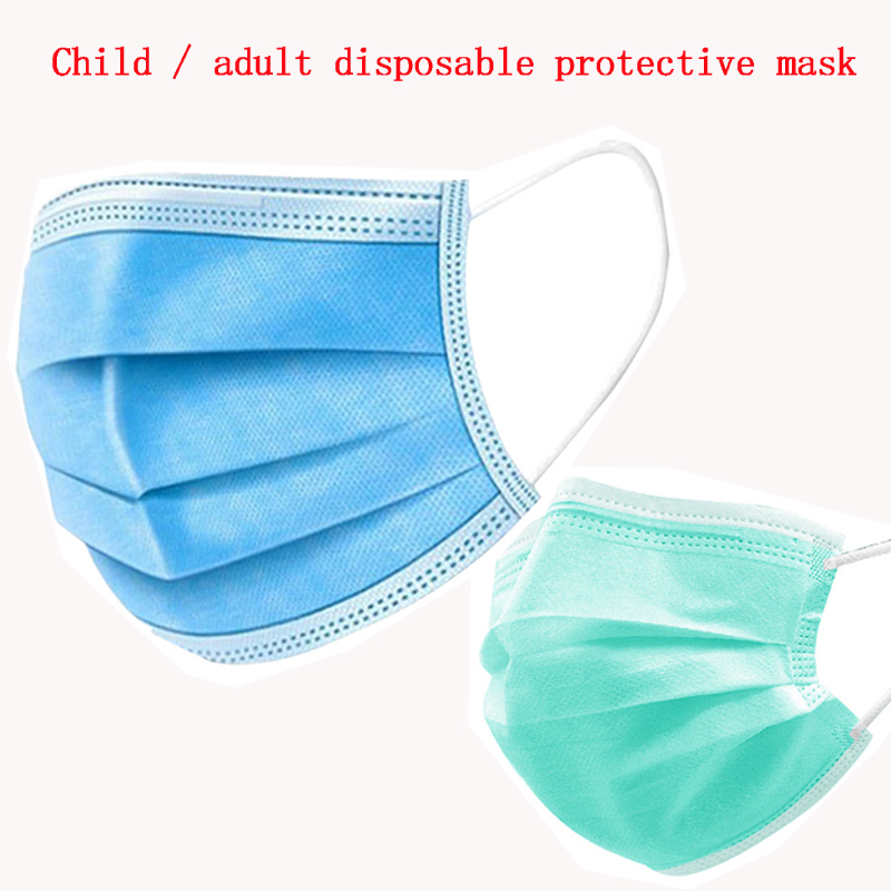 Dental Mask 3 Laye Waterproof Anti-Pollution Dust Protection Adult / Child Disposable Face Mask Dentistry Dentist Supplies