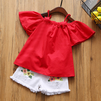 Humor Bear Baby Girls Clothes 2019 Summer New Children Clothse Baby Girls multicolor Coat+Shorts Suit Toddler Girls Clothing 4