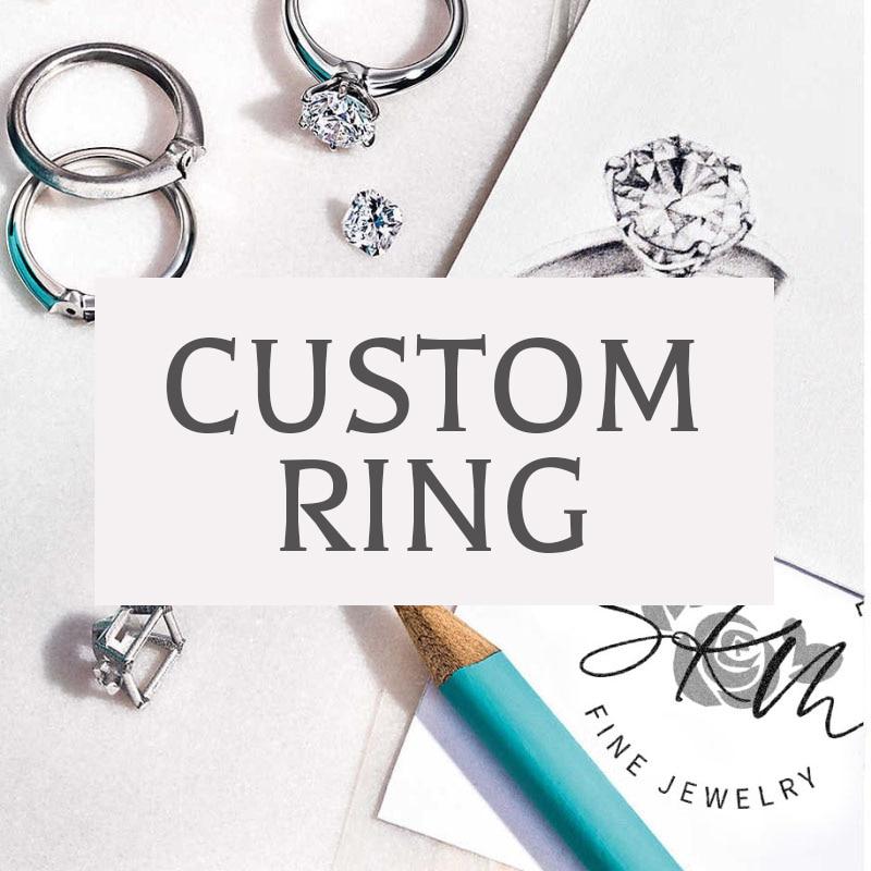 SKM Customized Rings Gemstone 14k 18k rose gold Engagement rings designer Promise Luxury Fine Jewelry