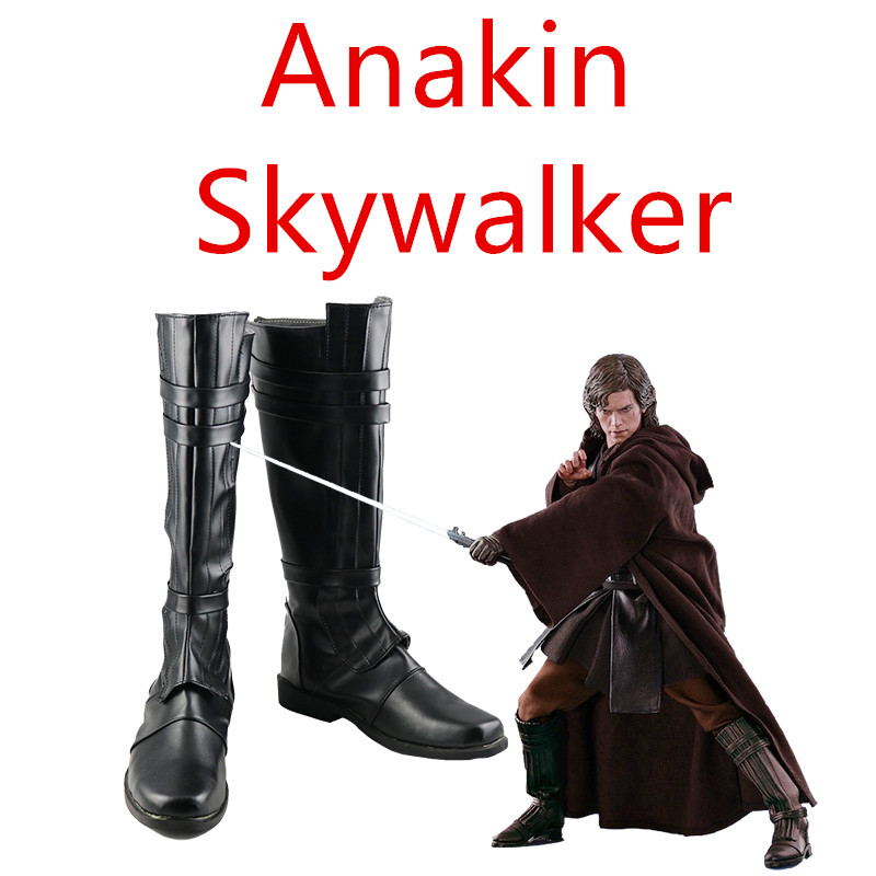 Star Wars: The Last Jedi Anakin Skywalker shoes cosplay adults men and women boots shoes Halloween Fashion Long shoes