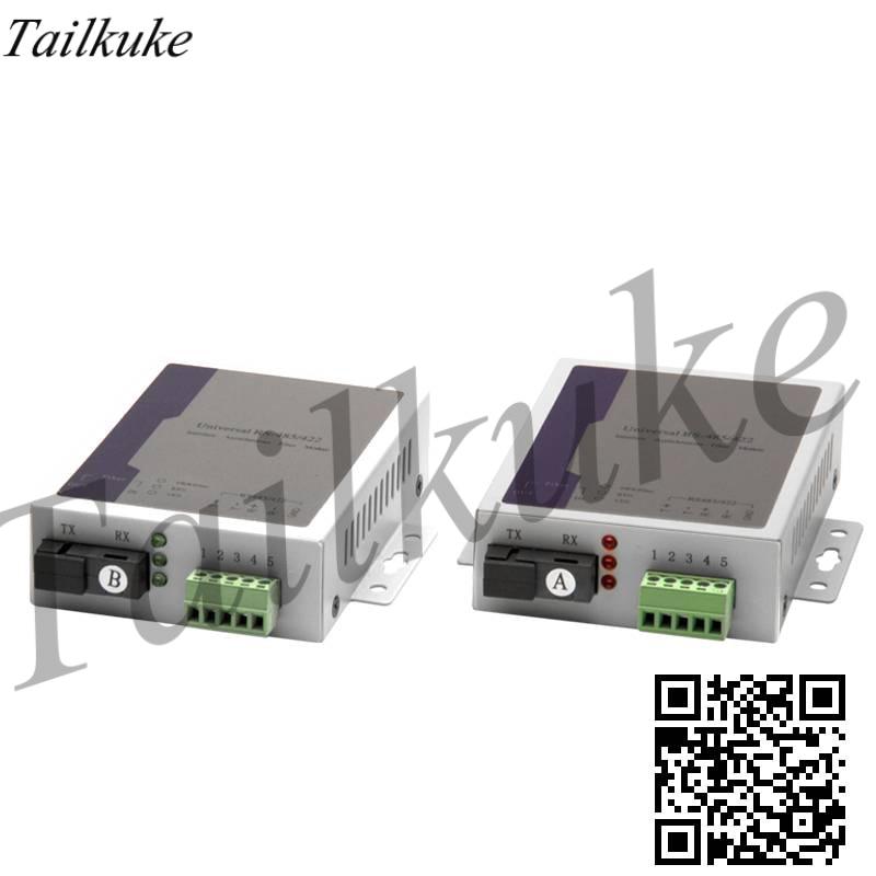 1 Way RS485 Bidirectional Data Optical Transceiver 485 Fiber Optic Extender Data Optical Cat Transceiver 1 Pair