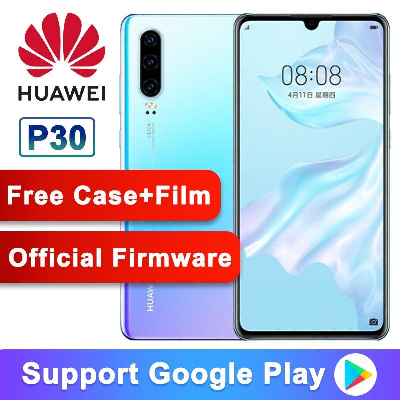 Smartphone d'origine Huawei P30 6.1 pouces Kirin 980 Octa Core Android 9.1 3650mAh 4 * caméras téléphone 40MP 30X Zoom numérique
