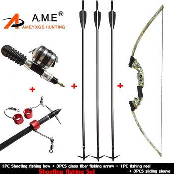 Bow Fishing Arrowhead Archery Arrow Reel Spincast Reel Slingshot Recurve Compound Bow Shooting Arrow Hunting Bowfishing Set 1 piece diameter 60cm arcehry straw grass target shooting practice recurve traditional compound bow slingshot training