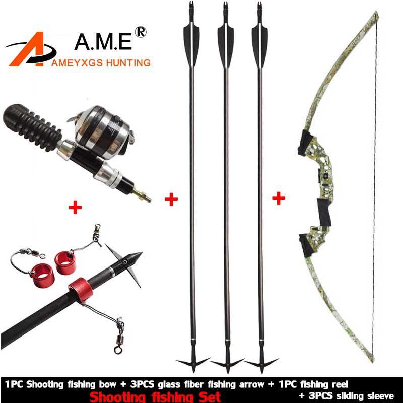 Bow Fishing Arrowhead Archery Arrow Reel Spincast Reel Slingshot Recurve Compound Bow Shooting Arrow Hunting Bowfishing Set