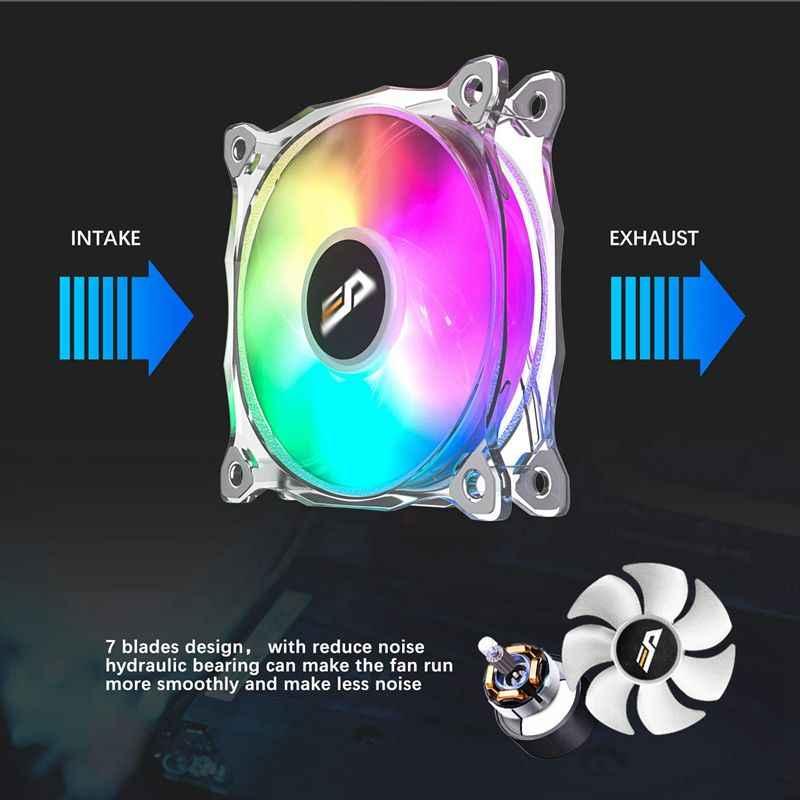 愛国者 darkFlash 120 ミリメートル RGB Led の Pc ケースファン CPU 冷却ファン静音 + リモート水冷却ファンオーラ同期コンピュータ CPU クーラーケースファン