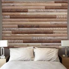 Beautiful plank wood texture style tapestry psychedelic wall hanging hippie bedroom decoration tapestry polyester yoga plank pumpkin print halloween wall tapestry