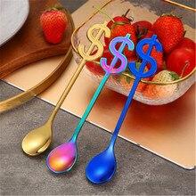 Supplies Long Handle coffee spoon Ice Cream Spoons US Dollars Coffee Scoop Stir Spoon accessories