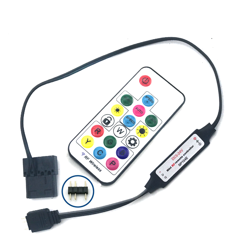 D-RGB Controller RF For Compatible With Motherboard&Hub 4PIN Or 3PIN Plug AURA SYNC Power Supply Plug Molex 4pin