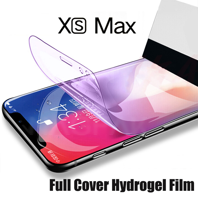 3D Full Cover For IPhone 11 Pro XS Max XR X Hydrogel Film For IPhone X 8 7 6 6s Plus Screen Protector Film Not Tempered Glass