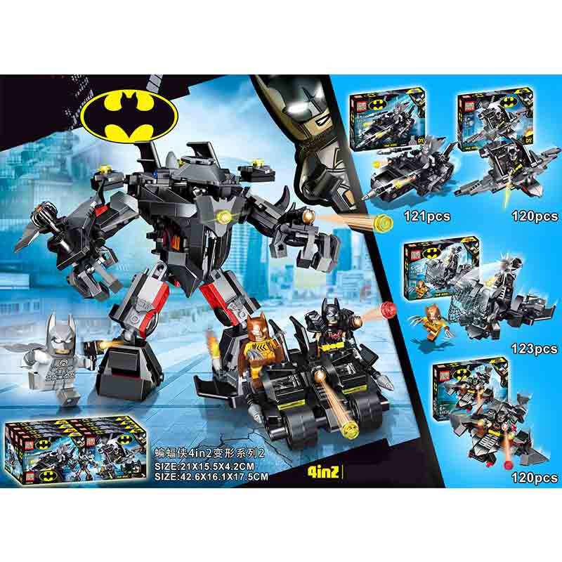 4pcs Avengers 4 Super Heroes Batman Building Blocks Bricks Boy Toys