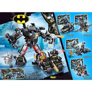 цена на 4pcs Avengers 4 Super Heroes Batman Building Blocks Bricks Boy Toys