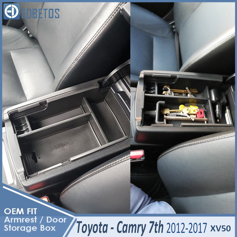 * Camry Car Armrest Box Center Console Storage Glove Box Organizer Insert Tray For Toyota Camry 2012 2013 2014 2015 2016 2017